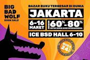 Big Bad Wolf Book Sale BBW Bazar Buku Jakarta Indonesia Convention & Exhibition, BSD City 6 - 16 Maret 2020