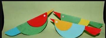Kreasi Kerajinan Tangan Origami Burung Dari Kertas