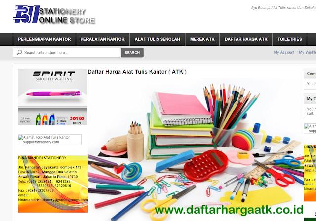 https://www.daftarhargaatk.co.id memberikan informasi lengkap semua ATK Stationery Peralatan Kantor Perlengkapan sekolah