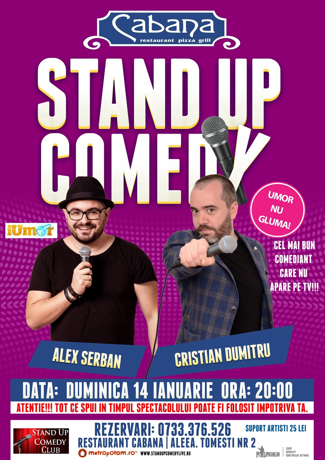Stand-Up Comedy Bucuresti Duminica 14 Ianuarie