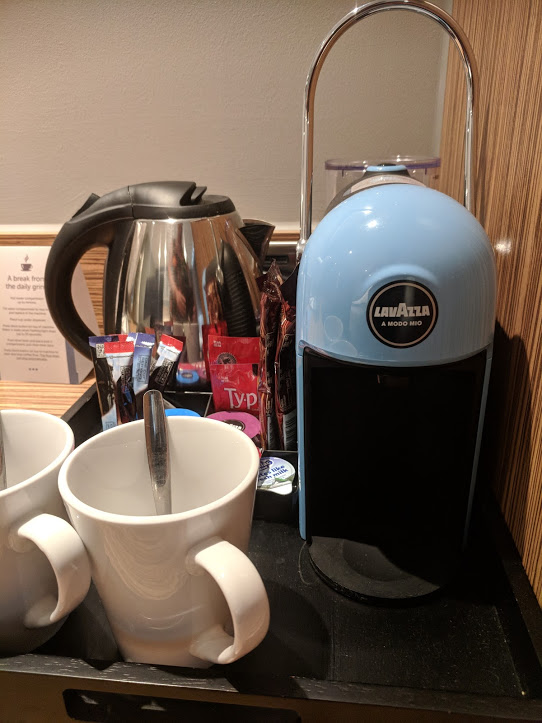 Are Travelodge SuperRooms worth it?  (Travelodge Windsor Central Review) - lavazza coffee machine