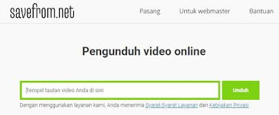 cara download dari youtube dengan savefrom.net