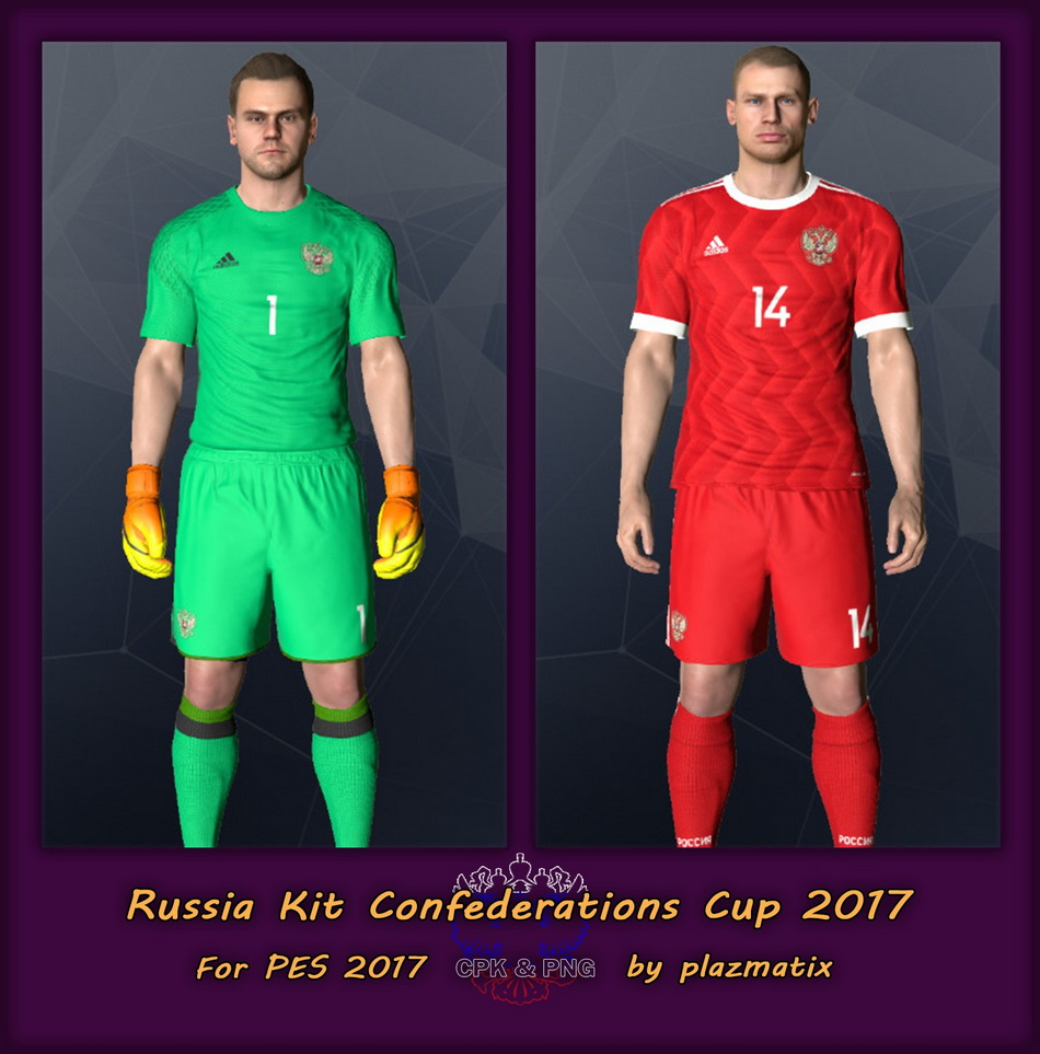 PES 2017 Russia Confederations Cup 2017 Kit by Plazmatix