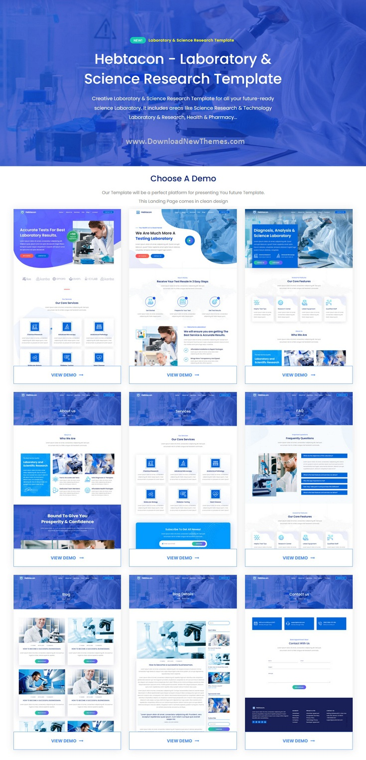 Science Research & Laboratory Template