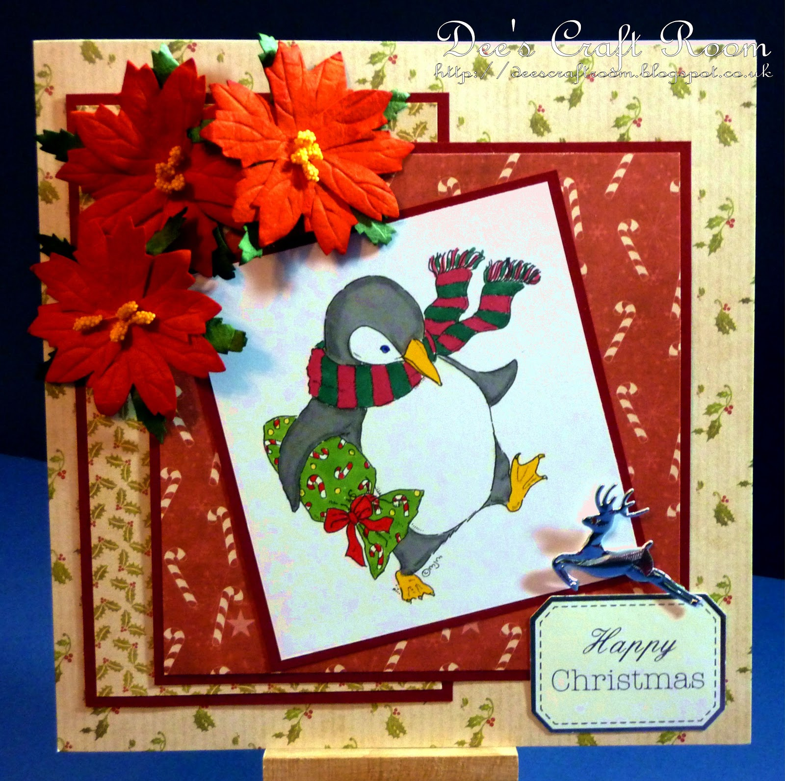 Christmas Backing Card For Crafting