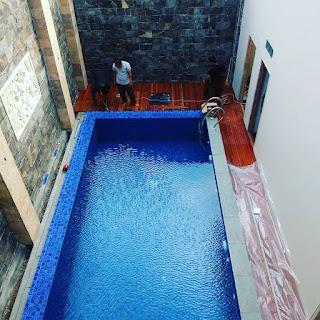 kolam renang semi over flow
