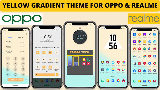 Chủ đề Gradient màu vàng cho Oppo và Realme || chủ đề oppo || chủ đề realme ||