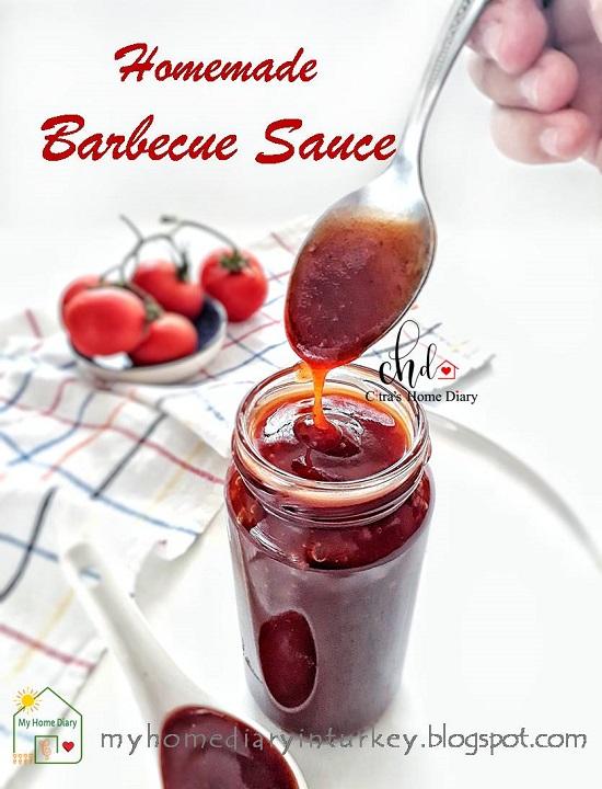 Easy Homemade Barbecue Sauce | Çitra's Home Diary. #barbecuesausage #barbecuesaucerecipe #homemadebarbecuesauce #homemadesauce #grillingrecipe