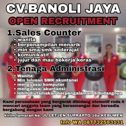 Lowongan Kerja Di Cv Banoli Jaya Kebumen Liputans