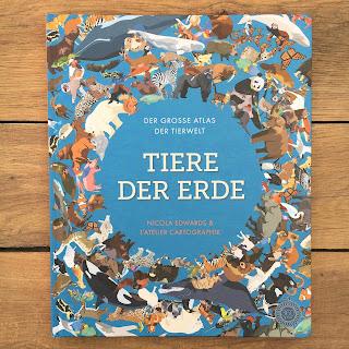 """""""Tier der Erde"""" von Nicola Edwards, illustriert von L'Atelier Cartographik, erschienen im 360 Grad Verlag, ist ein 16seitiges großformatiges Sachbuch mit vielen Klappen für Kinder ab 5 Jahren, Rezension auf Kinderbuchblog Familienbücherei"""