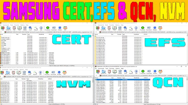 SAMSUNG CERT,EFS & QCN, NVM FILES Collection Free Download