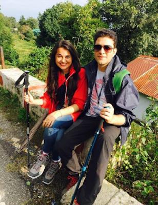Tina Dabi and Athar Aamir Trekking Pics