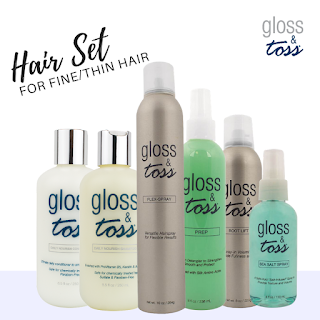 Gloss & Toss Professional Hair Care including hair care kits
