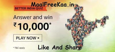 Amazon Better India Quiz