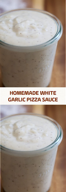 Homemade White Garlic Pizza Sauce