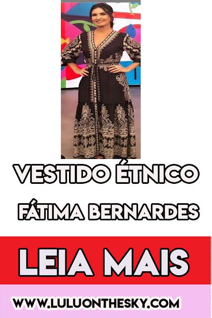 O vestido étnico da Fátima Bernardes no programa Encontro