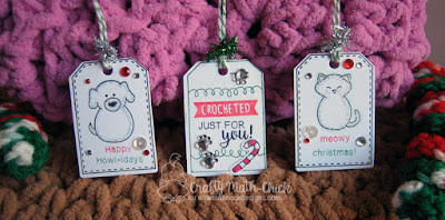 Holiday Pet Shelter Donation Tags by Crafty Math Chick | Tags Sampler stamp set, Tags Times Two die set, Flaky Family stamp set, Canine Christmas, Newton's Holiday Mischief Stamp set, Ornamental Newton Stamp set & dies by Newton's Nook Designs