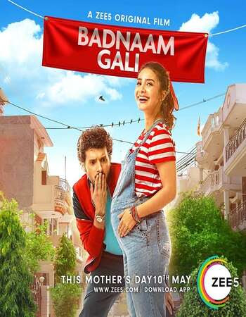 Poster Of Hindi Movie Badnaam Gali 2019 Full HD Movie Free Download 720P Watch Online