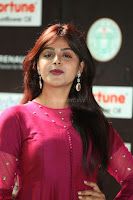 Monal Gajjar in Maroon Gown Stunning Cute Beauty at IIFA Utsavam Awards 2017 050.JPG