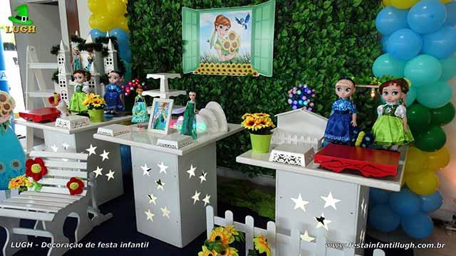 Mesa de aniversário infantil Frozen - Febre Congelante - Aniversário da Anna