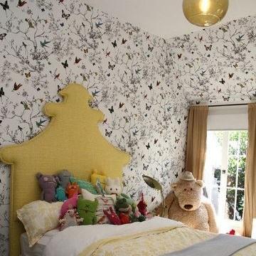 Wallpaper Kamar Tidur Motif Shabby Chic