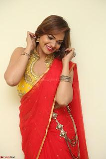 Actress Ashwini in Golden choli Red saree Spicy Pics ~  058.JPG