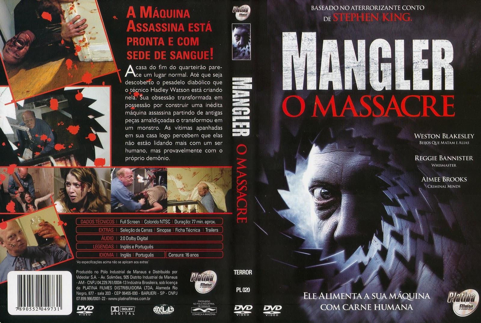 Capas Medina  Somente Capas de DVD Mangler  O Massacre