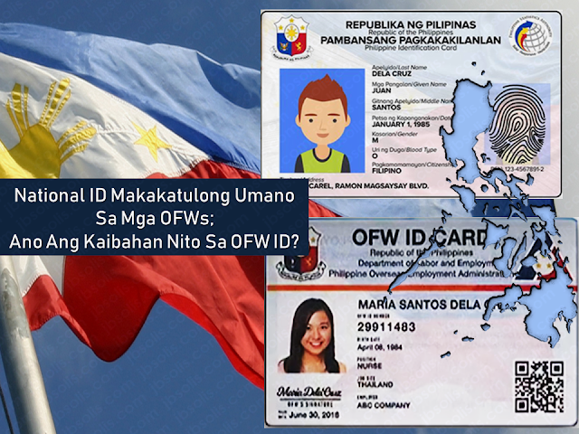 "To simplify the lives of the overseas Filipino workers (OFWs) and help them from the burden of queuing up for a number of documents needed in applying for overseas jobs and securing an Overseas Employment Certificate (OEC) from the Department of Labor and Employment (DOLE) will issue an OFW ID also known as iDOLE card to all OFWs. Just recently, President Rodrigo Duterte signed a law that will enforce the implementation of the National ID system or the Philsys to all Filipino citizen which will help them in government and private transactions which require a valid identification card. Instead of presenting various kinds of IDs, Filipinos will just have to present a single national ID card.        Advertisement  The OFW ID or the iDOLE card was a brainchild of DOLE and OWWA as a response to President Duterte's directive to help OFWs suffering from lengthy queues when securing an OEC they needed to allow them to work abroad. To be able to abolish OEC, they needed an alternative to keep track of OFWs deployed in different countries and at the same time, get rid of the OEC from the list of requirements the OFWs need to secure if they want to be able to work overseas.  The initial distribution of the OFW ID started in December last year where about 3,000 OFWs already received their IDs. However, Labor Secretary Silvestre Bello III has canceled its distribution due to an issue that some people want to earn money from it when the government has made a promise that it will be at no cost to the OFWs.   The redistribution will be handled by OWWA and expected to commence in September this year according to Secretary Bello. He reiterated that the OFWs can get it absolutely at no cost to either the OFWs nor the government as they have promised.      Ads     Meanwhile, the national ID system which is just recently signed into law by President Duterte is expected to start a year after it has become a law. Every Filipinos are encouraged to register to the PSA for the National ID although it is not mandatory.   Secretary Martin Andanar of Presidential Communications Operations Office said in an interview that it will not only make the lives of the common Filipinos easier, but it will also help the OFWs in their transactions while preparing the documents they need for applying for overseas jobs.    The OFW ID is exclusively issued to OFWs with existing overseas job contracts, while the National ID is for all Filipinos and foreigners who are currently living within the Philippine soil.    Ads  This is filed under OFW, overseas jobs, OEC, DOLE, OFW ID, iDOLE card, President Rodrigo Duterte, National ID system, Philsys, Filipinos, valid identification card,  Read More:  The passport is the most important document for the overseas Filipino workers (OFW) and even for the Filipinos who frequently travel outside the country. We should take good care of it. It is not easy to acquire one, especially when even getting an online appointment is like passing through a needle hole although there is a special courtesy lane for OFWs which do not require an online appointment. After securing an appointment, you need to go through DFA passport processing and submit the needed documents.  The new electronic passport (E-passport) validity was extended to so you will be working with it for ten years unless the pages are already full of stamps. In that case, you may need to apply for a new one.        Advertisement  There are things that we should not do with our passport. Taking care of it has to be a way of life.    Do Not Abandon it You are given a maximum of six months to claim it or have it delivered to you, after applying for your Philippine passport. All unclaimed passports beyond that period are canceled automatically in compliance to Department Order No. 37-03. You would just be wasting time and money going through the process of preparing your documents, the actual application and paying for it if you would just abandon it.    Keep it out of children's reach!  A Chinese man was put on hold in Korea after his kid doodled on his passport. The man was preparing to go back to China when he found out that he had made a huge mistake by leaving his passport with his son who treated his passport as a sketchbook. If you let them vandalize your passport, it is not their fault.  Any unauthorized sketches and signature could render your passport invalid for travel.    Do Not Lose it When traveling regard your valid passport as the most essential thing which should be on top of your checklist together with your credit card, cash, and clothes.  immediately report the loss of your passport to the Consular Records Division of the Department of Foreign Affairs (DFA) if you're in the Philippines, or any Philippine consulate or embassy closest to you if you are abroad. You'll need to submit documents like an Affidavit of Loss and Police Report if your passport is still valid, and a photocopy of its first and last pages if available.        Advertisement     Do Not Deface It Another case that would render your passport invalid is getting it damaged, whether by getting wet, having a torn page or sustaining a hole and other markings. In this case, you may need to apply for a new for a passport with a notarized Affidavit of Mutilation attached. You also need to submit a photocopy of the first and last pages of your passport.    Do Not Paste or staple anything on it Do not paste or staple anything on the cover of your passport that may damage the electronic chip on it, or paste/staple printed visas and any stickers on its pages.       Do not pawn or use it as a collateral   A common practice used by Overseas Filipino Workers (OFW), although it is illegal, are passports being used as a loan collateral. Passports are government property and not your own. If you get caught using your passport to loan money from any individual, you can get your travel document canceled and it may affect your next passport applications.   This is filed under the category of DFA passport processing, 10 years passport validity, Electronic Passport, E-Passport, Getting Philippine Passport, passport validity, passport appointment,      Sponsored Links  Read More:  Questions And Answers About UAE Amnesty 2018    What is OWWA's Tulong Puso Program and How OFWs or Organizations Can Avail?     Where And How To Invest In Stocks In The Philippines    Do You Know That You Can Rate Your Recruitment Agency?    Find Out Which Country Has The Fastest Internet Speed Using This Interactive Map  Important Reminders: Things You Should Not Do With Your Passport  Extortion and video or photo voyeurism is a serious crime and our overseas Filipino workers (OFW) are vulnerable to such crimes. A number of cases where female OFWs was lured to send nude photos or videos to their boyfriend whom they only knew online and later the latter will eventually ask for money in agreement that he will not upload the said videos or photos online.       Advertisement       Ads   A man was arrested for extorting money from her OFW girlfriend.  The suspect asked the OFW to give him Php50,000 for the agreement that he will not upload the OFW's nude photos online.    National Bureau of Investigation (NBI)  operatives set up an entrapment operation in response to the complaint of OFW ""Rhia"", (real name withheld) in a restaurant and waited for the suspect Dexter Caminos.  After Rhia handed the money to Caminos, the NBI Cybercrime Division operatives moved quickly putting the suspect under arrest.  The suspect admitted that they were having a quarrel and that he receives allowances from the OFW. He also denied that he was blackmailing the OFW. The suspect also said that it was not extortion and the money is for their business.    Rhia said that she was forced to take an emergency leave from her work in the UAE to file a complaint to the  Philippine authorities.  She also said that he already gave Php40,000 to he suspect due to his threats. He was telling her that he will send the nude photos to her family and to her churchmates if she will not hand him the money.  The victim believes that she was not the only victim since the suspect was also an OFW.  The suspect is facing robbery extortion charges, violation of Violence Against Women and Children Act and Video Voyeurism Act.  This is filed under Extortion, video or photo voyeurism, overseas Filipino workers, OFW, nude photos,   Ads  Read More:  Filed under the category of Abu Dhabi, Al Ain, consulates, Crackdown, Dubai, Embassies, Emirati population, EXPATRIATES, Filipinos in the UAE, illegal residency, illegal residents, ofw, overseas Filipinos workers, United Arab Emirates  There are almost 700,000 overseas Filipinos workers (OFW) living in the United Arab Emirates (UAE), 450,000 of which live in Dubai comprising 21.3% of the total population of Dubai. It is the largest population of Filipinos in the UAE, followed by Abu Dhabi and Al Ain. OFWs in the UAE sent over US$500 million in remittances to the Philippines. The UAE is home to over 200 nationalities. Emirati population is only about 20% of the total population.   To address illegal residency issues, the UAE government is giving amnesty to the expatriates, giving them a chance to correct their residency status before the anticipated crackdown on illegal residents. The amnesty 3-month amnesty period will begin on August 1 until October 31 this year.  Embassies and various consulates representing the expatriates are also expected to coordinate with its nationals during the amnesty period.  Advertisement         Sponsored Links         Expatriates who are staying illegally in the UAE are encouraged to apply for the amnesty. For more information and guidance about what the amnesty is all about and how to avail of it, please check out these useful questions and answers concerning the amnesty to be given to the expats who have issues with their residency in the Gulf state.  1. What is the duration of the amnesty?  Residents can avail of the amnesty for three months from August 1 to October 31  2. Who are the people eligible for amnesty?  The individuals who are staying illegally in the country can apply for amnesty.  3.  What are the two options available for illegal residents under amnesty? Those who wish to exit the country can go back to their home countries without paying fines or facing a jail term. Or individuals can regularise their status by getting a new visa under a sponsor.  4.  Will those who entered the country illegally be given amnesty?  Yes. But they will exit the country with a two-year ban.  5. Will there be a permanent ban on reentering the UAE for those who avail of amnesty?  No. There will be no ban, and people can re-enter the country on valid visas.  6.  Will the applicant have to pay to overstay fines before modifying their illegal status?  No. Applicants of amnesty will get a waiver on all overstaying fines.  7. What kind of violations will not fall under the amnesty scheme? People who have been blacklisted and also those who have legal cases against them are not eligible for amnesty. All residency violations will fall under the amnesty scheme.  8. Can those who have an absconding report against them apply for amnesty?  Yes, Immigration authorities will remove the absconding report and issue exit permit without a ban.  9. Can applicants who modify their status apply for jobs in the UAE? A: Yes. Applicants can register in the virtual job market available on the website of the Ministry of Human Resources and Emiratisation  10. How long can those who modified their residency status stay in the country to look for jobs? A: People looking for jobs can obtain a six-month temporary visa to look for employment.  11. How can residents apply for amnesty?  A: Illegal residents wishing to exit the country can approach the Immigration department and get an exit permit.  12. What are the documents residents need to submit? A: Residents need to submit the original passport or EC (emergency certificate). They also need to submit an air ticket along with the application.  13. What is the fee for applying for exit permit? A: A fee of AED220 is charged on the exit permit.  14. What is the fee for modifying residency status? A: A fee of AED500 is charged.  15. Can residents without passports apply for amnesty? A: Yes, Residents without passports can also apply.  16. What is the time period to exit the country after getting the exit pass? A: Individuals have to exit within 10 days of getting the exit pass.  17. How can those who cannot come to the Immigration apply for amnesty? A: Immigration will issue exit permits based on medical reports or letter from the embassy or consulate.  18. How many amnesty service centers have authorities established across the UAE? A: A total of nine centers have been established at the centers of the General Directorates of Residency and Foreign Affairs across the UAE.  19. Where are the centers in Abu Dhabi located? A: Al Ain, Shahama, and Al Garbia  20. Where can people submit their documents in Dubai? A: At Al Aweer Immigration center  21. What is the location for other emirates? A: The amnesty centers are located at the Immigration Offices in the emirates.  22. What are the timings for the centers? A: The amnesty service centers will open from 8am to 8pm.  Families coming from war-torn countries like Syria and Yemen will be granted a one-year residence visa without restrictions attached.    Meanwhile, a social media post from the Philippine Embassy in the UAE said that for the OFWs who wish to be repatriated to the Philippines, the Philippine government will shoulder their one-way plane ticket and other fees.   However, the embassy clarifies that it is only applied to only those who are willing to go back home.  For more information regarding the details of the amnesty, keep in touch with  Philippine Embassy in Abu Dhabi or send an email to atn.abudhabi@gmail.com    For those who are in Dubai and the Northern Emirates, they can go to the Philippine Consulate in Dubai  or send an email to amnesty@pcgdubai.ae or call 04 220 7100    Filed under the category of Abu Dhabi, Al Ain, consulates, Crackdown, Dubai, Embassies, Emirati population, EXPATRIATES, Filipinos in the UAE, illegal residency, illegal residents, ofw, overseas Filipinos workers, United Arab Emirates  READ MORE:  Find Out Which Country Has The Fastest Internet Speed Using This Interactive Map    Find Out Which Is The Best Broadband Connection In The Philippines   Best Free Video Calling/Messaging Apps Of 2018    Modern Immigration Electronic Gates Now At NAIA    ASEAN Promotes People Mobility Across The Region    You Too Can Earn As Much As P131K From SSS Flexi Fund Investment    Survey: 8 Out of 10 OFWS Are Not Saving Their Money For Retirement    Can A Virgin Birth Be Possible At This Millennial Age?    Dubai OFW Lost His Dreams To A Scammer    Support And Protection Of The OFWs, Still PRRD's Priority  Questions And Answers About UAE Amnesty 2018  The passport is the most important document for the overseas Filipino workers (OFW) and even for the Filipinos who frequently travel outside the country. We should take good care of it. It is not easy to acquire one, especially when even getting an online appointment is like passing through a needle hole although there is a special courtesy lane for OFWs which do not require an online appointment. After securing an appointment, you need to go through DFA passport processing and submit the needed documents.  The new electronic passport (E-passport) validity was extended to so you will be working with it for ten years unless the pages are already full of stamps. In that case, you may need to apply for a new one.        Advertisement  There are things that we should not do with our passport. Taking care of it has to be a way of life.    Do Not Abandon it You are given a maximum of six months to claim it or have it delivered to you, after applying for your Philippine passport. All unclaimed passports beyond that period are canceled automatically in compliance to Department Order No. 37-03. You would just be wasting time and money going through the process of preparing your documents, the actual application and paying for it if you would just abandon it.    Keep it out of children's reach!  A Chinese man was put on hold in Korea after his kid doodled on his passport. The man was preparing to go back to China when he found out that he had made a huge mistake by leaving his passport with his son who treated his passport as a sketchbook. If you let them vandalize your passport, it is not their fault.  Any unauthorized sketches and signature could render your passport invalid for travel.    Do Not Lose it When traveling regard your valid passport as the most essential thing which should be on top of your checklist together with your credit card, cash, and clothes.  immediately report the loss of your passport to the Consular Records Division of the Department of Foreign Affairs (DFA) if you're in the Philippines, or any Philippine consulate or embassy closest to you if you are abroad. You'll need to submit documents like an Affidavit of Loss and Police Report if your passport is still valid, and a photocopy of its first and last pages if available.        Advertisement     Do Not Deface It Another case that would render your passport invalid is getting it damaged, whether by getting wet, having a torn page or sustaining a hole and other markings. In this case, you may need to apply for a new for a passport with a notarized Affidavit of Mutilation attached. You also need to submit a photocopy of the first and last pages of your passport.    Do Not Paste or staple anything on it Do not paste or staple anything on the cover of your passport that may damage the electronic chip on it, or paste/staple printed visas and any stickers on its pages.       Do not pawn or use it as a collateral   A common practice used by Overseas Filipino Workers (OFW), although it is illegal, are passports being used as a loan collateral. Passports are government property and not your own. If you get caught using your passport to loan money from any individual, you can get your travel document canceled and it may affect your next passport applications.   This is filed under the category of DFA passport processing, 10 years passport validity, Electronic Passport, E-Passport, Getting Philippine Passport, passport validity, passport appointment,      Sponsored Links  Read More:  Questions And Answers About UAE Amnesty 2018    What is OWWA's Tulong Puso Program and How OFWs or Organizations Can Avail?     Where And How To Invest In Stocks In The Philippines    Do You Know That You Can Rate Your Recruitment Agency?    Find Out Which Country Has The Fastest Internet Speed Using This Interactive Map  Things You Should Not Do With Your Passport  This is filed under the category of owwa pangkabuhayan loan, owwa benefits loan, owwa cash assistance, owwa office, ofw loan owwa, owwa membership benefits, owwa business program for ofw, ofw loan in owwa, owwa cash loan,   The Overseas Workers Welfare Administration (OWWA)has welcomed the P300-million budget allocated by the Department of Labor and Employment (DOLE) for a livelihood program that is expected to benefit returning overseas Filipino workers (OFW).    DOLE, headed by Secretary Silvestre Bello III, has allocated P300 million as a livelihood support for OFW organizations through OWWA's ""Tulong Pangkabuhayan sa Pag-unlad ng Samahang OFWs ""(Tulong Puso) program.  Advertisement         Sponsored Links     This is filed under the category of owwa pangkabuhayan loan, owwa benefits loan, owwa cash assistance, owwa office, ofw loan owwa, owwa membership benefits, owwa business program for ofw, ofw loan in owwa, owwa cash loan,  The Overseas Workers Welfare Administration (OWWA)has welcomed the P300-million budget allocated by the Department of Labor and Employment (DOLE) for a livelihood program that is expected to benefit returning overseas Filipino workers (OFW).  DOLE, headed by Secretary Silvestre Bello III, has allocated P300 million as a livelihood support for OFW organizations through OWWA's Tulong Pangkabuhayan sa Pag-unlad ng Samahang OFWs (Tulong Puso) program. Advertisement        Sponsored Links        It is a mechanism of DOLE-OWWA to urge OFW organizations or groups to put up new livelihood programs or businesses. Together with their partners like the Department of Trade and Industry (DTI) and Department of Agriculture (DA), they will conduct enterprise development training and other social preparation intervention to equip OFW groups all the vital skills and trainings to ensure high success rates of whatever project they want to start. Any interested DOLE, CDA  accredited or SEC-registered OFW groups may submit their project proposal together with the required documents at any of the 17 OWWA Regional Welfare Offices for evaluation.  *For the complete list of the needed requirements, click here.  DOLE believe that the Tulong PUSO program could convince the OFW organizations to start a productive endeavor for the good of every OFWs and their family as the community benefit as well.   This is filed under the category of owwa pangkabuhayan loan, owwa benefits loan, owwa cash assistance, owwa office, ofw loan owwa, owwa membership benefits, owwa business program for ofw, ofw loan in owwa, owwa cash loan, READ MORE:  Find Out Which Country Has The Fastest Internet Speed Using This Interactive Map     Find Out Which Is The Best Broadband Connection In The Philippines   Best Free Video Calling/Messaging Apps Of 2018    Modern Immigration Electronic Gates Now At NAIA    ASEAN Promotes People Mobility Across The Region    You Too Can Earn As Much As P131K From SSS Flexi Fund Investment    Survey: 8 Out of 10 OFWS Are Not Saving Their Money For Retirement    Can A Virgin Birth Be Possible At This Millennial Age?    Dubai OFW Lost His Dreams To A Scammer    Support And Protection Of The OFWs, Still PRRD's Priority  It is a mechanism of DOLE-OWWA to urge OFW organizations or groups to put up new livelihood programs or businesses.  Together with their partners like the Department of Trade and Industry (DTI) and Department of Agriculture (DA), they will conduct enterprise development training and other social preparation intervention to equip OFW groups all the vital skills and trainings to ensure high success rates of whatever project they want to start. Any interested DOLE, CDA  accredited or SEC-registered OFW groups may submit their project proposal together with the required documents at any of the 17 OWWA Regional Welfare Offices for evaluation.    *For the complete list of the needed requirements, click here.   DOLE believe that the Tulong PUSO program could convince the OFW organizations to start a productive endeavor for the good of every OFWs and their family as the community benefit as well.     This is filed under the category of owwa pangkabuhayan loan, owwa benefits loan, owwa cash assistance, owwa office, ofw loan owwa, owwa membership benefits, owwa business program for ofw, ofw loan in owwa, owwa cash loan,  This is filed under the category of owwa pangkabuhayan loan, owwa benefits loan, owwa cash assistance, owwa office, ofw loan owwa, owwa membership benefits, owwa business program for ofw, ofw loan in owwa, owwa cash loan,  The Overseas Workers Welfare Administration (OWWA)has welcomed the P300-million budget allocated by the Department of Labor and Employment (DOLE) for a livelihood program that is expected to benefit returning overseas Filipino workers (OFW).  DOLE, headed by Secretary Silvestre Bello III, has allocated P300 million as a livelihood support for OFW organizations through OWWA's Tulong Pangkabuhayan sa Pag-unlad ng Samahang OFWs (Tulong Puso) program. Advertisement        Sponsored Links        It is a mechanism of DOLE-OWWA to urge OFW organizations or groups to put up new livelihood programs or businesses. Together with their partners like the Department of Trade and Industry (DTI) and Department of Agriculture (DA), they will conduct enterprise development training and other social preparation intervention to equip OFW groups all the vital skills and trainings to ensure high success rates of whatever project they want to start. Any interested DOLE, CDA  accredited or SEC-registered OFW groups may submit their project proposal together with the required documents at any of the 17 OWWA Regional Welfare Offices for evaluation.  *For the complete list of the needed requirements, click here.  DOLE believe that the Tulong PUSO program could convince the OFW organizations to start a productive endeavor for the good of every OFWs and their family as the community benefit as well.   This is filed under the category of owwa pangkabuhayan loan, owwa benefits loan, owwa cash assistance, owwa office, ofw loan owwa, owwa membership benefits, owwa business program for ofw, ofw loan in owwa, owwa cash loan, READ MORE:  Find Out Which Country Has The Fastest Internet Speed Using This Interactive Map     Find Out Which Is The Best Broadband Connection In The Philippines   Best Free Video Calling/Messaging Apps Of 2018    Modern Immigration Electronic Gates Now At NAIA    ASEAN Promotes People Mobility Across The Region    You Too Can Earn As Much As P131K From SSS Flexi Fund Investment    Survey: 8 Out of 10 OFWS Are Not Saving Their Money For Retirement    Can A Virgin Birth Be Possible At This Millennial Age?    Dubai OFW Lost His Dreams To A Scammer    Support And Protection Of The OFWs, Still PRRD's Priority   READ MORE:  Find Out Which Country Has The Fastest Internet Speed Using This Interactive Map      Find Out Which Is The Best Broadband Connection In The Philippines   Best Free Video Calling/Messaging Apps Of 2018    Modern Immigration Electronic Gates Now At NAIA    ASEAN Promotes People Mobility Across The Region    You Too Can Earn As Much As P131K From SSS Flexi Fund Investment    Survey: 8 Out of 10 OFWS Are Not Saving Their Money For Retirement    Can A Virgin Birth Be Possible At This Millennial Age?    Dubai OFW Lost His Dreams To A Scammer    Support And Protection Of The OFWs, Still PRRD's Priority  What is OWWA's Tulong Puso Program and How OFWs or Organizations Can Avail?     Where And How To Invest In Stocks In The Philippines  Man Nabbed For ""Sextortion"" Of An OFW  Railways have been always proven as the main factor in determining and assuring the fast flow of commerce and trade for ages. The economy and financial progress of countries all over the world greatly depend on how fast they can transport commodities and services throughout the country and its neighbors.  Up to this present time, railways are still playing its great role in many progressive countries in different continents.  In the Philippines, Duterte administration's Build Build Build program referred to as the ""golden age of infrastructure"", started construction of the nation's first subway system including a number of railway projects.        Advertisement   These projects include Philippine National Railways (PNR) North Rail, PNR South Rail, the Luzon Spine Expressway and Mindanao Rail. The Build Build Build projects which include all of these has an estimated cost of P3.6 trillion which is expected to raise the contribution of infrastructure spending to GDP (gross domestic product) from 5.4 % in 2017 to 7.4% in 2022.    PNR North Rail, which will spend about P225 million, extending to 100 kilometers connecting Manila's Tutuban Station to Pampanga's Clark International Airport. The Tutuban-Clark journey that will last for about 55 minutes is expected to service around 35,000 passengers everyday.    PNR South Rail, which will connect Manila with the Bicol region, will be made of two stretches. The first stretch, from Manila to Los Banos - a distance of 75kms – will be able to accommodate up to 400,000 passengers daily upon its completion in 2022.      The Luzon Spine Expressway is a more ambitious undertaking, for it will start in La Union and end in the Bicol region. It will encompass road projects that are already underway – including the project that will link NLEX (the North Luzon Expressway)and SLEX (the South Luzon Expressway). When the Luzon Spine Expressway is completed, travel time between La Union and the Bicol region will be reduced to under 12 hours.    Ads     Mindanao Rail will be a colossal project. For one thing, there is the distance that it will cover: the 2,000 miles between Tagum and the cities of Davao and Digos. For another, there is the project's price tag: P32 billion. Expected to be completed in 2021, Mindanao Rail will be able to carry 117,000 passengers daily. The travel time between Tagum and Digos will be reduced to just an hour.    These railways and road projects are ambitious but they will do much to increase for the economic development in their coverage areas. Mindanao Rail, in particular, is set to operate in an area that badly needs boosting economic activities.     Ads  However, it's completion target which is expected by 2021is nearly impossible and ambitious.   Will the Build Build Build program be able to beat their due date?     Only four years left in President Duterte's term. Will the next president carry on with these projects? That is the big question now.  This is filed under Railways, commerce and trade, Philippines, Duterte, Build Build Build,  infrastructure, subway system, railway projects, construction,    Read More:  Questions And Answers About UAE Amnesty 2018    Things You Should Not Do With Your Passport    What is OWWA's Tulong Puso Program and How OFWs or Organizations Can Avail?     Where And How To Invest In Stocks In The Philippines These Are Some of the Speedy Trains and Railway Projects In The Philippines  Aside from Philippine passport from the Department of Foreign Affairs (DFA), the birth certificate issued by the Philippine Statistics Authority (PSA) and the NBI clearance from National Bureau Of Investigation (NBI) are among the important documents you need to secure if you are applying for an overseas job. Every aspiring overseas Filipino worker (OFW) has to obtain these documents. But what if you encounter a situation like having a ""hit"" on your NBI clearance or a ""negative intact"" on your PSA birth certificate while applying for these requirements?        Advertisement      ""HIT"" is the term used by NBI Clearance Outlets if the applicant has a similar name and requires their NBI Clearance to do further verification before it is released to its owner.   If a HIT appears, NBI Personnel needs to verify the applicant's identity further. Applicants are instructed to come back 8-10 working days to claim their NBI Clearance.  When you got a ""hit"" in applying for an NBI clearance. Do not Panic!     Here is what you need to do:   —If you know that you don't have any criminal record, no need to worry about it.  —Wait for the date of release of your NBI Clearance as directed by the officer. Come back and claim it to the branch where you applied for it.     —Come as early as possible on the day of the assigned date of release of your NBI Clearance.        Ads   When  applying for PSA birth certificate and you got a result which says  ""negative intact"", you may do the following:    —Check with your local civil registrar where the birth has taken place if you have an existing record of your NSO certificate.   —If you have a record, ask the local civil registrar to endorse your NSO certificate record to PSA.   —If there is no existing record with the local civil registrar, you will need to file for late registration.   —If you have already secured a PSA copy, you can proceed and request your PSA certificate.        Ads    This is filed under Philippine passport, Department of Foreign Affairs, birth certificate, Philippine Statistics Authority (PSA), National Bureau Of Investigation, overseas job, overseas Filipino worker (OFW), NBI Clearance,  Read More:  The passport is the most important document for the overseas Filipino workers (OFW) and even for the Filipinos who frequently travel outside the country. We should take good care of it. It is not easy to acquire one, especially when even getting an online appointment is like passing through a needle hole although there is a special courtesy lane for OFWs which do not require an online appointment. After securing an appointment, you need to go through DFA passport processing and submit the needed documents.  The new electronic passport (E-passport) validity was extended to so you will be working with it for ten years unless the pages are already full of stamps. In that case, you may need to apply for a new one.        Advertisement  There are things that we should not do with our passport. Taking care of it has to be a way of life.    Do Not Abandon it You are given a maximum of six months to claim it or have it delivered to you, after applying for your Philippine passport. All unclaimed passports beyond that period are canceled automatically in compliance to Department Order No. 37-03. You would just be wasting time and money going through the process of preparing your documents, the actual application and paying for it if you would just abandon it.    Keep it out of children's reach!  A Chinese man was put on hold in Korea after his kid doodled on his passport. The man was preparing to go back to China when he found out that he had made a huge mistake by leaving his passport with his son who treated his passport as a sketchbook. If you let them vandalize your passport, it is not their fault.  Any unauthorized sketches and signature could render your passport invalid for travel.    Do Not Lose it When traveling regard your valid passport as the most essential thing which should be on top of your checklist together with your credit card, cash, and clothes.  immediately report the loss of your passport to the Consular Records Division of the Department of Foreign Affairs (DFA) if you're in the Philippines, or any Philippine consulate or embassy closest to you if you are abroad. You'll need to submit documents like an Affidavit of Loss and Police Report if your passport is still valid, and a photocopy of its first and last pages if available.        Advertisement     Do Not Deface It Another case that would render your passport invalid is getting it damaged, whether by getting wet, having a torn page or sustaining a hole and other markings. In this case, you may need to apply for a new for a passport with a notarized Affidavit of Mutilation attached. You also need to submit a photocopy of the first and last pages of your passport.    Do Not Paste or staple anything on it Do not paste or staple anything on the cover of your passport that may damage the electronic chip on it, or paste/staple printed visas and any stickers on its pages.       Do not pawn or use it as a collateral   A common practice used by Overseas Filipino Workers (OFW), although it is illegal, are passports being used as a loan collateral. Passports are government property and not your own. If you get caught using your passport to loan money from any individual, you can get your travel document canceled and it may affect your next passport applications.   This is filed under the category of DFA passport processing, 10 years passport validity, Electronic Passport, E-Passport, Getting Philippine Passport, passport validity, passport appointment,      Sponsored Links  Read More:  Questions And Answers About UAE Amnesty 2018    What is OWWA's Tulong Puso Program and How OFWs or Organizations Can Avail?     Where And How To Invest In Stocks In The Philippines    Do You Know That You Can Rate Your Recruitment Agency?    Find Out Which Country Has The Fastest Internet Speed Using This Interactive Map  Important Reminders: Things You Should Not Do With Your Passport  Extortion and video or photo voyeurism is a serious crime and our overseas Filipino workers (OFW) are vulnerable to such crimes. A number of cases where female OFWs was lured to send nude photos or videos to their boyfriend whom they only knew online and later the latter will eventually ask for money in agreement that he will not upload the said videos or photos online.       Advertisement       Ads   A man was arrested for extorting money from her OFW girlfriend.  The suspect asked the OFW to give him Php50,000 for the agreement that he will not upload the OFW's nude photos online.    National Bureau of Investigation (NBI)  operatives set up an entrapment operation in response to the complaint of OFW ""Rhia"", (real name withheld) in a restaurant and waited for the suspect Dexter Caminos.  After Rhia handed the money to Caminos, the NBI Cybercrime Division operatives moved quickly putting the suspect under arrest.  The suspect admitted that they were having a quarrel and that he receives allowances from the OFW. He also denied that he was blackmailing the OFW. The suspect also said that it was not extortion and the money is for their business.    Rhia said that she was forced to take an emergency leave from her work in the UAE to file a complaint to the  Philippine authorities.  She also said that he already gave Php40,000 to he suspect due to his threats. He was telling her that he will send the nude photos to her family and to her churchmates if she will not hand him the money.  The victim believes that she was not the only victim since the suspect was also an OFW.  The suspect is facing robbery extortion charges, violation of Violence Against Women and Children Act and Video Voyeurism Act.  This is filed under Extortion, video or photo voyeurism, overseas Filipino workers, OFW, nude photos,   Ads  Read More:  Filed under the category of Abu Dhabi, Al Ain, consulates, Crackdown, Dubai, Embassies, Emirati population, EXPATRIATES, Filipinos in the UAE, illegal residency, illegal residents, ofw, overseas Filipinos workers, United Arab Emirates  There are almost 700,000 overseas Filipinos workers (OFW) living in the United Arab Emirates (UAE), 450,000 of which live in Dubai comprising 21.3% of the total population of Dubai. It is the largest population of Filipinos in the UAE, followed by Abu Dhabi and Al Ain. OFWs in the UAE sent over US$500 million in remittances to the Philippines. The UAE is home to over 200 nationalities. Emirati population is only about 20% of the total population.   To address illegal residency issues, the UAE government is giving amnesty to the expatriates, giving them a chance to correct their residency status before the anticipated crackdown on illegal residents. The amnesty 3-month amnesty period will begin on August 1 until October 31 this year.  Embassies and various consulates representing the expatriates are also expected to coordinate with its nationals during the amnesty period.  Advertisement         Sponsored Links         Expatriates who are staying illegally in the UAE are encouraged to apply for the amnesty. For more information and guidance about what the amnesty is all about and how to avail of it, please check out these useful questions and answers concerning the amnesty to be given to the expats who have issues with their residency in the Gulf state.  1. What is the duration of the amnesty?  Residents can avail of the amnesty for three months from August 1 to October 31  2. Who are the people eligible for amnesty?  The individuals who are staying illegally in the country can apply for amnesty.  3.  What are the two options available for illegal residents under amnesty? Those who wish to exit the country can go back to their home countries without paying fines or facing a jail term. Or individuals can regularise their status by getting a new visa under a sponsor.  4.  Will those who entered the country illegally be given amnesty?  Yes. But they will exit the country with a two-year ban.  5. Will there be a permanent ban on reentering the UAE for those who avail of amnesty?  No. There will be no ban, and people can re-enter the country on valid visas.  6.  Will the applicant have to pay to overstay fines before modifying their illegal status?  No. Applicants of amnesty will get a waiver on all overstaying fines.  7. What kind of violations will not fall under the amnesty scheme? People who have been blacklisted and also those who have legal cases against them are not eligible for amnesty. All residency violations will fall under the amnesty scheme.  8. Can those who have an absconding report against them apply for amnesty?  Yes, Immigration authorities will remove the absconding report and issue exit permit without a ban.  9. Can applicants who modify their status apply for jobs in the UAE? A: Yes. Applicants can register in the virtual job market available on the website of the Ministry of Human Resources and Emiratisation  10. How long can those who modified their residency status stay in the country to look for jobs? A: People looking for jobs can obtain a six-month temporary visa to look for employment.  11. How can residents apply for amnesty?  A: Illegal residents wishing to exit the country can approach the Immigration department and get an exit permit.  12. What are the documents residents need to submit? A: Residents need to submit the original passport or EC (emergency certificate). They also need to submit an air ticket along with the application.  13. What is the fee for applying for exit permit? A: A fee of AED220 is charged on the exit permit.  14. What is the fee for modifying residency status? A: A fee of AED500 is charged.  15. Can residents without passports apply for amnesty? A: Yes, Residents without passports can also apply.  16. What is the time period to exit the country after getting the exit pass? A: Individuals have to exit within 10 days of getting the exit pass.  17. How can those who cannot come to the Immigration apply for amnesty? A: Immigration will issue exit permits based on medical reports or letter from the embassy or consulate.  18. How many amnesty service centers have authorities established across the UAE? A: A total of nine centers have been established at the centers of the General Directorates of Residency and Foreign Affairs across the UAE.  19. Where are the centers in Abu Dhabi located? A: Al Ain, Shahama, and Al Garbia  20. Where can people submit their documents in Dubai? A: At Al Aweer Immigration center  21. What is the location for other emirates? A: The amnesty centers are located at the Immigration Offices in the emirates.  22. What are the timings for the centers? A: The amnesty service centers will open from 8am to 8pm.  Families coming from war-torn countries like Syria and Yemen will be granted a one-year residence visa without restrictions attached.    Meanwhile, a social media post from the Philippine Embassy in the UAE said that for the OFWs who wish to be repatriated to the Philippines, the Philippine government will shoulder their one-way plane ticket and other fees.   However, the embassy clarifies that it is only applied to only those who are willing to go back home.  For more information regarding the details of the amnesty, keep in touch with  Philippine Embassy in Abu Dhabi or send an email to atn.abudhabi@gmail.com    For those who are in Dubai and the Northern Emirates, they can go to the Philippine Consulate in Dubai  or send an email to amnesty@pcgdubai.ae or call 04 220 7100    Filed under the category of Abu Dhabi, Al Ain, consulates, Crackdown, Dubai, Embassies, Emirati population, EXPATRIATES, Filipinos in the UAE, illegal residency, illegal residents, ofw, overseas Filipinos workers, United Arab Emirates  READ MORE:  Find Out Which Country Has The Fastest Internet Speed Using This Interactive Map    Find Out Which Is The Best Broadband Connection In The Philippines   Best Free Video Calling/Messaging Apps Of 2018    Modern Immigration Electronic Gates Now At NAIA    ASEAN Promotes People Mobility Across The Region    You Too Can Earn As Much As P131K From SSS Flexi Fund Investment    Survey: 8 Out of 10 OFWS Are Not Saving Their Money For Retirement    Can A Virgin Birth Be Possible At This Millennial Age?    Dubai OFW Lost His Dreams To A Scammer    Support And Protection Of The OFWs, Still PRRD's Priority  Questions And Answers About UAE Amnesty 2018  The passport is the most important document for the overseas Filipino workers (OFW) and even for the Filipinos who frequently travel outside the country. We should take good care of it. It is not easy to acquire one, especially when even getting an online appointment is like passing through a needle hole although there is a special courtesy lane for OFWs which do not require an online appointment. After securing an appointment, you need to go through DFA passport processing and submit the needed documents.  The new electronic passport (E-passport) validity was extended to so you will be working with it for ten years unless the pages are already full of stamps. In that case, you may need to apply for a new one.        Advertisement  There are things that we should not do with our passport. Taking care of it has to be a way of life.    Do Not Abandon it You are given a maximum of six months to claim it or have it delivered to you, after applying for your Philippine passport. All unclaimed passports beyond that period are canceled automatically in compliance to Department Order No. 37-03. You would just be wasting time and money going through the process of preparing your documents, the actual application and paying for it if you would just abandon it.    Keep it out of children's reach!  A Chinese man was put on hold in Korea after his kid doodled on his passport. The man was preparing to go back to China when he found out that he had made a huge mistake by leaving his passport with his son who treated his passport as a sketchbook. If you let them vandalize your passport, it is not their fault.  Any unauthorized sketches and signature could render your passport invalid for travel.    Do Not Lose it When traveling regard your valid passport as the most essential thing which should be on top of your checklist together with your credit card, cash, and clothes.  immediately report the loss of your passport to the Consular Records Division of the Department of Foreign Affairs (DFA) if you're in the Philippines, or any Philippine consulate or embassy closest to you if you are abroad. You'll need to submit documents like an Affidavit of Loss and Police Report if your passport is still valid, and a photocopy of its first and last pages if available.        Advertisement     Do Not Deface It Another case that would render your passport invalid is getting it damaged, whether by getting wet, having a torn page or sustaining a hole and other markings. In this case, you may need to apply for a new for a passport with a notarized Affidavit of Mutilation attached. You also need to submit a photocopy of the first and last pages of your passport.    Do Not Paste or staple anything on it Do not paste or staple anything on the cover of your passport that may damage the electronic chip on it, or paste/staple printed visas and any stickers on its pages.       Do not pawn or use it as a collateral   A common practice used by Overseas Filipino Workers (OFW), although it is illegal, are passports being used as a loan collateral. Passports are government property and not your own. If you get caught using your passport to loan money from any individual, you can get your travel document canceled and it may affect your next passport applications.   This is filed under the category of DFA passport processing, 10 years passport validity, Electronic Passport, E-Passport, Getting Philippine Passport, passport validity, passport appointment,      Sponsored Links  Read More:  Questions And Answers About UAE Amnesty 2018    What is OWWA's Tulong Puso Program and How OFWs or Organizations Can Avail?     Where And How To Invest In Stocks In The Philippines    Do You Know That You Can Rate Your Recruitment Agency?    Find Out Which Country Has The Fastest Internet Speed Using This Interactive Map  Things You Should Not Do With Your Passport  This is filed under the category of owwa pangkabuhayan loan, owwa benefits loan, owwa cash assistance, owwa office, ofw loan owwa, owwa membership benefits, owwa business program for ofw, ofw loan in owwa, owwa cash loan,   The Overseas Workers Welfare Administration (OWWA)has welcomed the P300-million budget allocated by the Department of Labor and Employment (DOLE) for a livelihood program that is expected to benefit returning overseas Filipino workers (OFW).    DOLE, headed by Secretary Silvestre Bello III, has allocated P300 million as a livelihood support for OFW organizations through OWWA's ""Tulong Pangkabuhayan sa Pag-unlad ng Samahang OFWs ""(Tulong Puso) program.  Advertisement         Sponsored Links     This is filed under the category of owwa pangkabuhayan loan, owwa benefits loan, owwa cash assistance, owwa office, ofw loan owwa, owwa membership benefits, owwa business program for ofw, ofw loan in owwa, owwa cash loan,  The Overseas Workers Welfare Administration (OWWA)has welcomed the P300-million budget allocated by the Department of Labor and Employment (DOLE) for a livelihood program that is expected to benefit returning overseas Filipino workers (OFW).  DOLE, headed by Secretary Silvestre Bello III, has allocated P300 million as a livelihood support for OFW organizations through OWWA's Tulong Pangkabuhayan sa Pag-unlad ng Samahang OFWs (Tulong Puso) program. Advertisement        Sponsored Links        It is a mechanism of DOLE-OWWA to urge OFW organizations or groups to put up new livelihood programs or businesses. Together with their partners like the Department of Trade and Industry (DTI) and Department of Agriculture (DA), they will conduct enterprise development training and other social preparation intervention to equip OFW groups all the vital skills and trainings to ensure high success rates of whatever project they want to start. Any interested DOLE, CDA  accredited or SEC-registered OFW groups may submit their project proposal together with the required documents at any of the 17 OWWA Regional Welfare Offices for evaluation.  *For the complete list of the needed requirements, click here.  DOLE believe that the Tulong PUSO program could convince the OFW organizations to start a productive endeavor for the good of every OFWs and their family as the community benefit as well.   This is filed under the category of owwa pangkabuhayan loan, owwa benefits loan, owwa cash assistance, owwa office, ofw loan owwa, owwa membership benefits, owwa business program for ofw, ofw loan in owwa, owwa cash loan, READ MORE:  Find Out Which Country Has The Fastest Internet Speed Using This Interactive Map     Find Out Which Is The Best Broadband Connection In The Philippines   Best Free Video Calling/Messaging Apps Of 2018    Modern Immigration Electronic Gates Now At NAIA    ASEAN Promotes People Mobility Across The Region    You Too Can Earn As Much As P131K From SSS Flexi Fund Investment    Survey: 8 Out of 10 OFWS Are Not Saving Their Money For Retirement    Can A Virgin Birth Be Possible At This Millennial Age?    Dubai OFW Lost His Dreams To A Scammer    Support And Protection Of The OFWs, Still PRRD's Priority  It is a mechanism of DOLE-OWWA to urge OFW organizations or groups to put up new livelihood programs or businesses.  Together with their partners like the Department of Trade and Industry (DTI) and Department of Agriculture (DA), they will conduct enterprise development training and other social preparation intervention to equip OFW groups all the vital skills and trainings to ensure high success rates of whatever project they want to start. Any interested DOLE, CDA  accredited or SEC-registered OFW groups may submit their project proposal together with the required documents at any of the 17 OWWA Regional Welfare Offices for evaluation.    *For the complete list of the needed requirements, click here.   DOLE believe that the Tulong PUSO program could convince the OFW organizations to start a productive endeavor for the good of every OFWs and their family as the community benefit as well.     This is filed under the category of owwa pangkabuhayan loan, owwa benefits loan, owwa cash assistance, owwa office, ofw loan owwa, owwa membership benefits, owwa business program for ofw, ofw loan in owwa, owwa cash loan,  This is filed under the category of owwa pangkabuhayan loan, owwa benefits loan, owwa cash assistance, owwa office, ofw loan owwa, owwa membership benefits, owwa business program for ofw, ofw loan in owwa, owwa cash loan,  The Overseas Workers Welfare Administration (OWWA)has welcomed the P300-million budget allocated by the Department of Labor and Employment (DOLE) for a livelihood program that is expected to benefit returning overseas Filipino workers (OFW).  DOLE, headed by Secretary Silvestre Bello III, has allocated P300 million as a livelihood support for OFW organizations through OWWA's Tulong Pangkabuhayan sa Pag-unlad ng Samahang OFWs (Tulong Puso) program. Advertisement        Sponsored Links        It is a mechanism of DOLE-OWWA to urge OFW organizations or groups to put up new livelihood programs or businesses. Together with their partners like the Department of Trade and Industry (DTI) and Department of Agriculture (DA), they will conduct enterprise development training and other social preparation intervention to equip OFW groups all the vital skills and trainings to ensure high success rates of whatever project they want to start. Any interested DOLE, CDA  accredited or SEC-registered OFW groups may submit their project proposal together with the required documents at any of the 17 OWWA Regional Welfare Offices for evaluation.  *For the complete list of the needed requirements, click here.  DOLE believe that the Tulong PUSO program could convince the OFW organizations to start a productive endeavor for the good of every OFWs and their family as the community benefit as well.   This is filed under the category of owwa pangkabuhayan loan, owwa benefits loan, owwa cash assistance, owwa office, ofw loan owwa, owwa membership benefits, owwa business program for ofw, ofw loan in owwa, owwa cash loan, READ MORE:  Find Out Which Country Has The Fastest Internet Speed Using This Interactive Map     Find Out Which Is The Best Broadband Connection In The Philippines   Best Free Video Calling/Messaging Apps Of 2018    Modern Immigration Electronic Gates Now At NAIA    ASEAN Promotes People Mobility Across The Region    You Too Can Earn As Much As P131K From SSS Flexi Fund Investment    Survey: 8 Out of 10 OFWS Are Not Saving Their Money For Retirement    Can A Virgin Birth Be Possible At This Millennial Age?    Dubai OFW Lost His Dreams To A Scammer    Support And Protection Of The OFWs, Still PRRD's Priority   READ MORE:  Find Out Which Country Has The Fastest Internet Speed Using This Interactive Map      Find Out Which Is The Best Broadband Connection In The Philippines   Best Free Video Calling/Messaging Apps Of 2018    Modern Immigration Electronic Gates Now At NAIA    ASEAN Promotes People Mobility Across The Region    You Too Can Earn As Much As P131K From SSS Flexi Fund Investment    Survey: 8 Out of 10 OFWS Are Not Saving Their Money For Retirement    Can A Virgin Birth Be Possible At This Millennial Age?    Dubai OFW Lost His Dreams To A Scammer    Support And Protection Of The OFWs, Still PRRD's Priority  What is OWWA's Tulong Puso Program and How OFWs or Organizations Can Avail?     Where And How To Invest In Stocks In The Philippines  Man Nabbed For ""Sextortion"" Of An OFW  Railways have been always proven as the main factor in determining and assuring the fast flow of commerce and trade for ages. The economy and financial progress of countries all over the world greatly depend on how fast they can transport commodities and services throughout the country and its neighbors.  Up to this present time, railways are still playing its great role in many progressive countries in different continents.  In the Philippines, Duterte administration's Build Build Build program referred to as the ""golden age of infrastructure"", started construction of the nation's first subway system including a number of railway projects.        Advertisement   These projects include Philippine National Railways (PNR) North Rail, PNR South Rail, the Luzon Spine Expressway and Mindanao Rail. The Build Build Build projects which include all of these has an estimated cost of P3.6 trillion which is expected to raise the contribution of infrastructure spending to GDP (gross domestic product) from 5.4 % in 2017 to 7.4% in 2022.    PNR North Rail, which will spend about P225 million, extending to 100 kilometers connecting Manila's Tutuban Station to Pampanga's Clark International Airport. The Tutuban-Clark journey that will last for about 55 minutes is expected to service around 35,000 passengers everyday.    PNR South Rail, which will connect Manila with the Bicol region, will be made of two stretches. The first stretch, from Manila to Los Banos - a distance of 75kms – will be able to accommodate up to 400,000 passengers daily upon its completion in 2022.      The Luzon Spine Expressway is a more ambitious undertaking, for it will start in La Union and end in the Bicol region. It will encompass road projects that are already underway – including the project that will link NLEX (the North Luzon Expressway)and SLEX (the South Luzon Expressway). When the Luzon Spine Expressway is completed, travel time between La Union and the Bicol region will be reduced to under 12 hours.    Ads     Mindanao Rail will be a colossal project. For one thing, there is the distance that it will cover: the 2,000 miles between Tagum and the cities of Davao and Digos. For another, there is the project's price tag: P32 billion. Expected to be completed in 2021, Mindanao Rail will be able to carry 117,000 passengers daily. The travel time between Tagum and Digos will be reduced to just an hour.    These railways and road projects are ambitious but they will do much to increase for the economic development in their coverage areas. Mindanao Rail, in particular, is set to operate in an area that badly needs boosting economic activities.     Ads  However, it's completion target which is expected by 2021is nearly impossible and ambitious.   Will the Build Build Build program be able to beat their due date?     Only four years left in President Duterte's term. Will the next president carry on with these projects? That is the big question now.  This is filed under Railways, commerce and trade, Philippines, Duterte, Build Build Build,  infrastructure, subway system, railway projects, construction,    Read More:  Questions And Answers About UAE Amnesty 2018    Things You Should Not Do With Your Passport    What is OWWA's Tulong Puso Program and How OFWs or Organizations Can Avail?     Where And How To Invest In Stocks In The Philippines These Are Some of the Speedy Trains and Railway Projects In The Philippines    OFW Scalded By Employer In Saudi Arabia  OFW Scalded By Employer In Saudi Arabia"