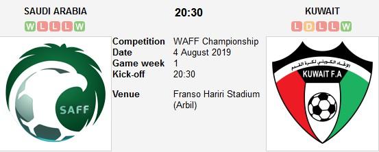 مشاهدة مباراة السعودية والكويت بث مباشر بتاريخ 04-08-2019 بطولة اتحاد غرب آسيا