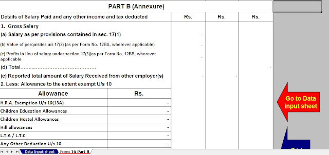 Download Automated Income Tax Preparation Excel Based Software All in One for Govt & Non-Govt Employees for F.Y. 2019-20 With Income Tax Deductions 6