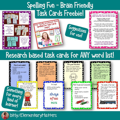Seven Strategies to help children remember spelling words - based on brain research, this blog post shares seven strategies to help those kiddos who struggle to remember spelling!