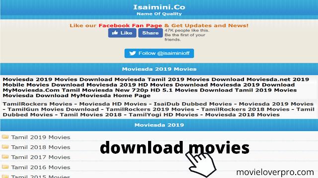 Download Telugu, Tamil & Hindi Movies from Isaimini