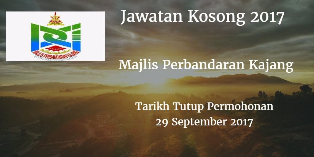 Jawatan Kosong MPKj 29 September 2017