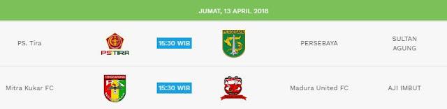 Jadwal Liga 1 Jumat 13 April 2018