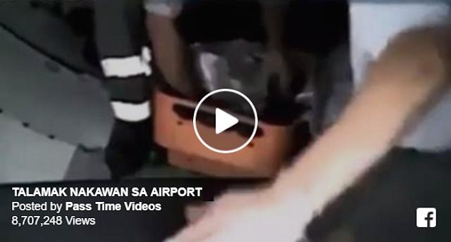 MUST WATCH: Modus na pagnanakaw sa mga bagahe ng pasahero ng eroplano.