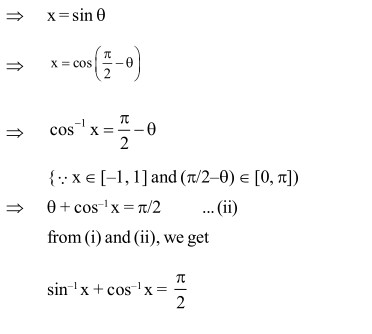 12 class Maths Notes Chapter 2 INVERSE TRIGONOMETRIC FUNCTIONS