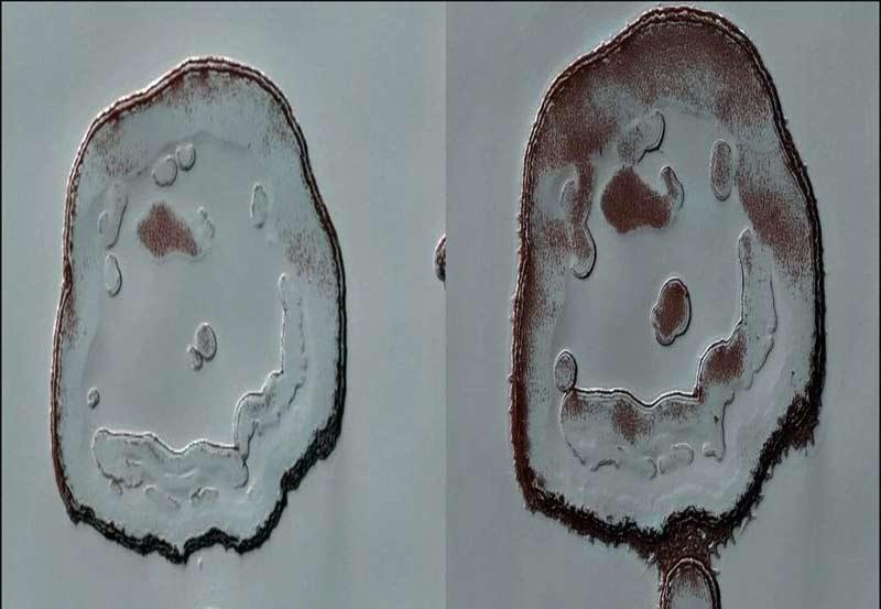 A 'Happy Face Crater' em Marte está mais feliz do que nunca