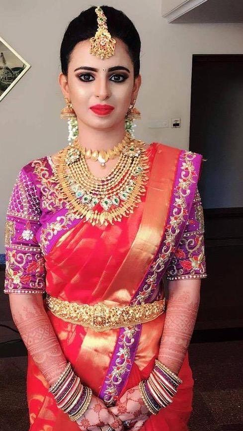 Bride in Kerala Traditional jewellery