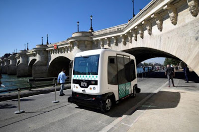 Driver less Mini Bus Test Drive Conducted In Paris