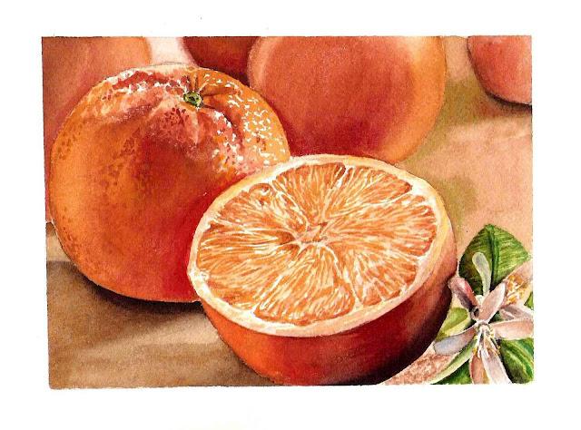 Painting half orange
