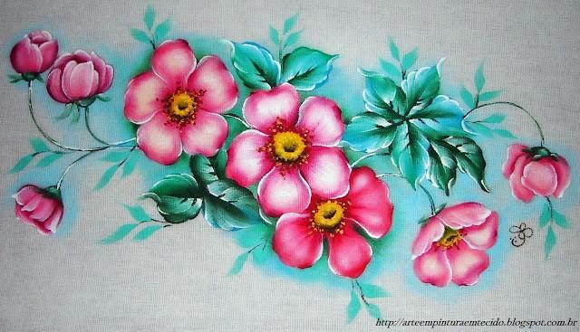 pintura-em-tecido.flores
