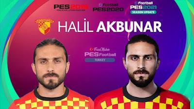 PES 2021 Faces Halil Akbunar by PES Football Turkey