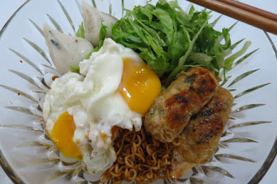 luxed up bowl of Myojo Char Mee