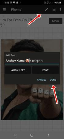 Photo पर नाम कैसे लिखें Android और Jio Phone में