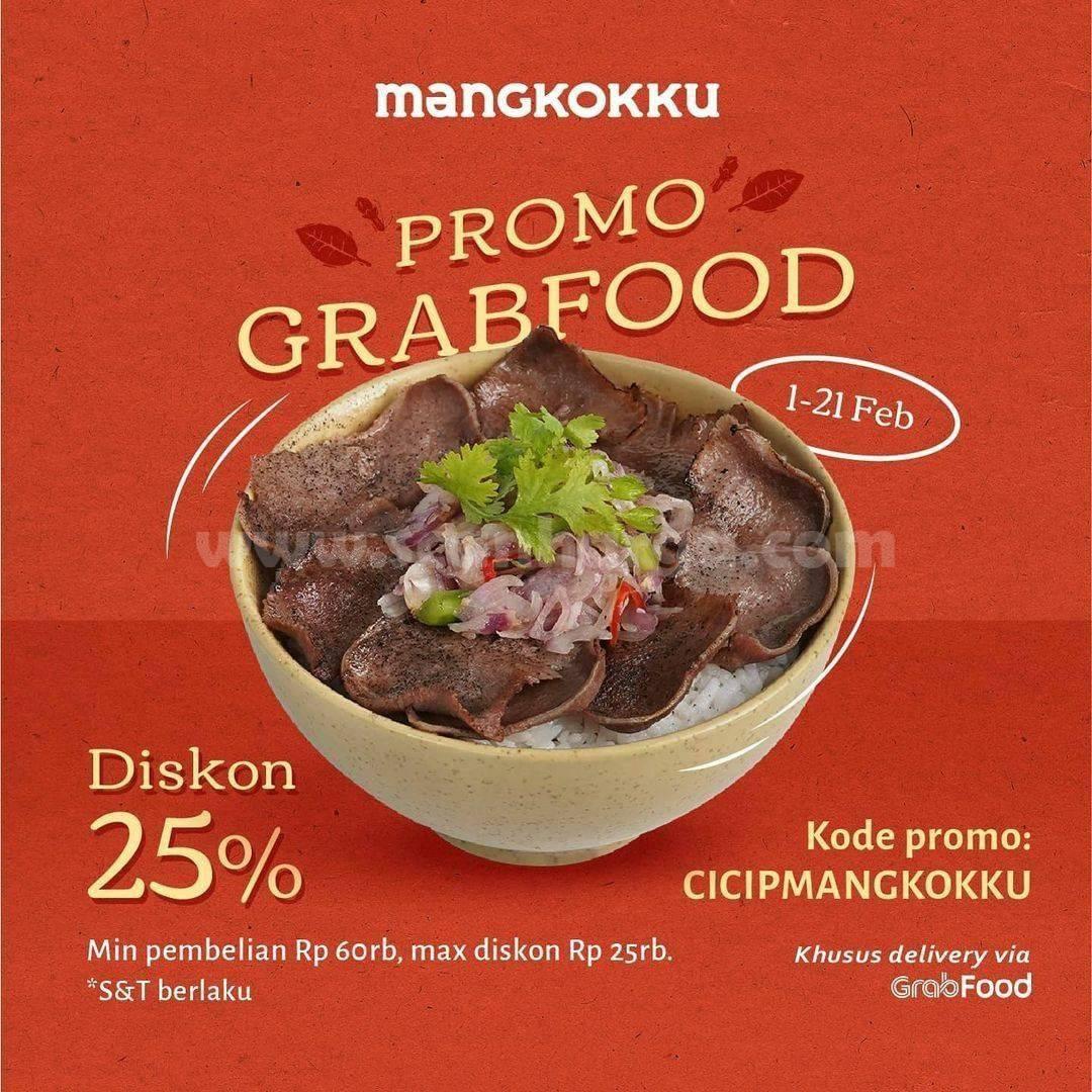 MANGKOKKU Spesial Promo GRABFOOD! DISKON hingga 25%