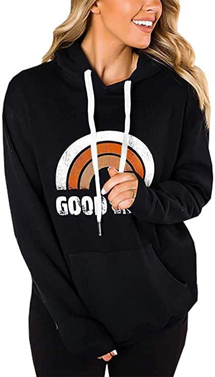 30%off LACOZY Women's Good Vibes Hoodies for Women Tops Blouse