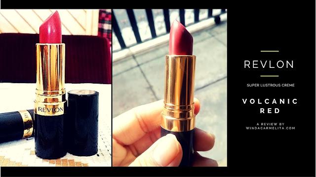 revlon super lustrous lipstick creme volcanic red