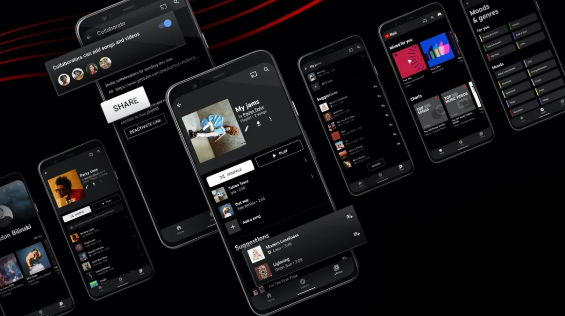 Youtube music app features