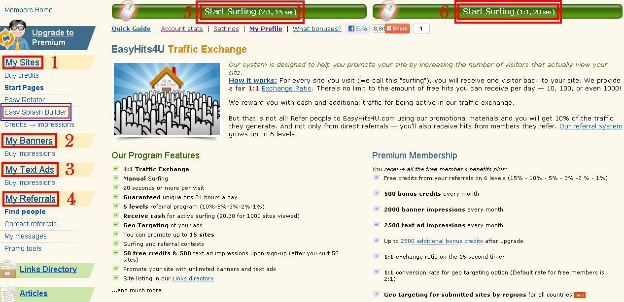 EasyHits4U Penghasil Uang Dan Traffic ~ Blog Affiliate Dan ...