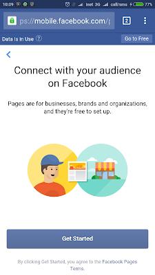 halaman page facebook